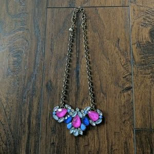 J. Crew Necklace Like New-pink/blue/smoke/clear